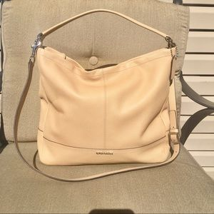 Coach Camel Pebbled Leather Shoulder/Crossbody Bag
